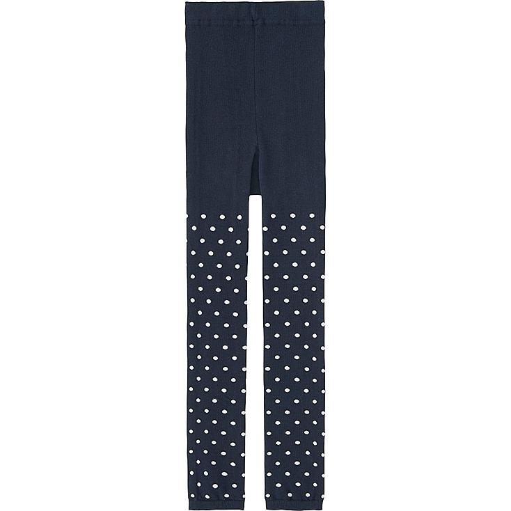 GIRLS KNITTED LEGGINGS, NAVY, large