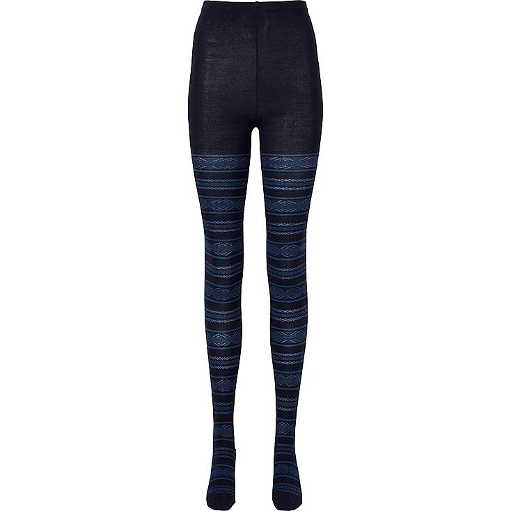 WOMEN HEATTECH KNITTED TIGHTS (FAIR ISLE) | UNIQLO US