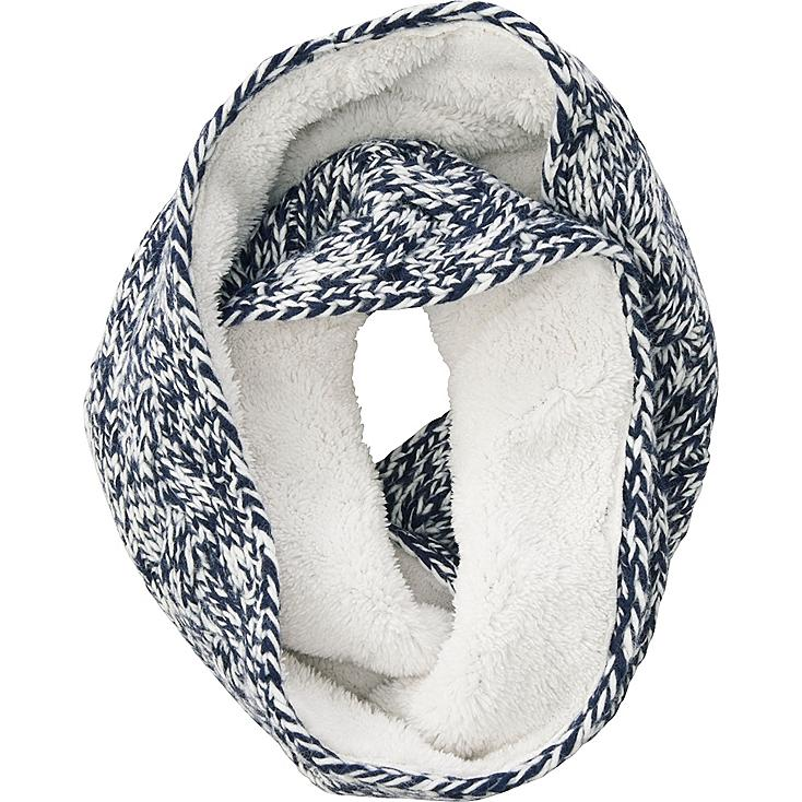 WOMEN LOW GAUGE SNOOD (CABLE), NAVY, large