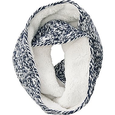 WOMEN LOW GAUGE SNOOD (CABLE), NAVY, medium