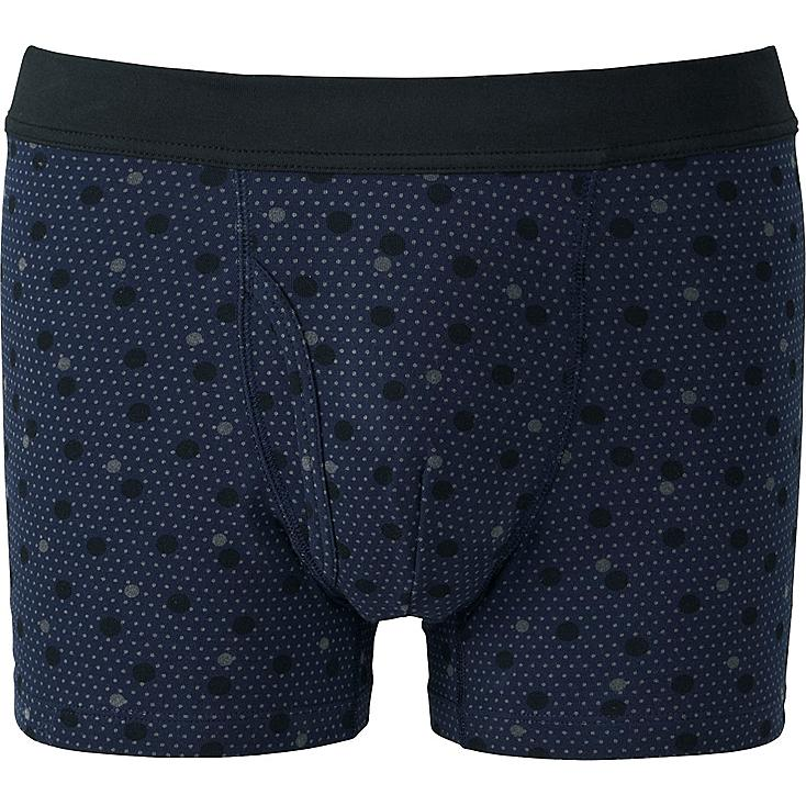 MEN Supima® COTTON SOFT BAND BOXER BRIEFS, NAVY, large