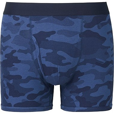MEN Supima Cotton Waffle Printed Trunks