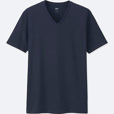 MEN Supima® COTTON V-NECK SHORT SLEEVE T-Shirt, NAVY, medium
