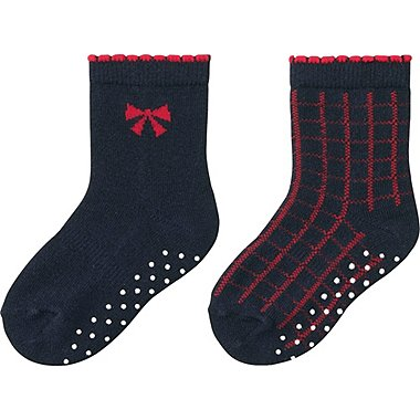 BABY SOCKS 2P, NAVY, medium