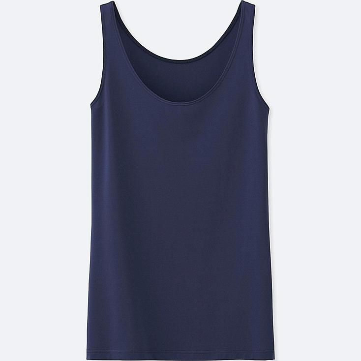 WOMEN AIRism SLEEVELESS TOP, NAVY, large
