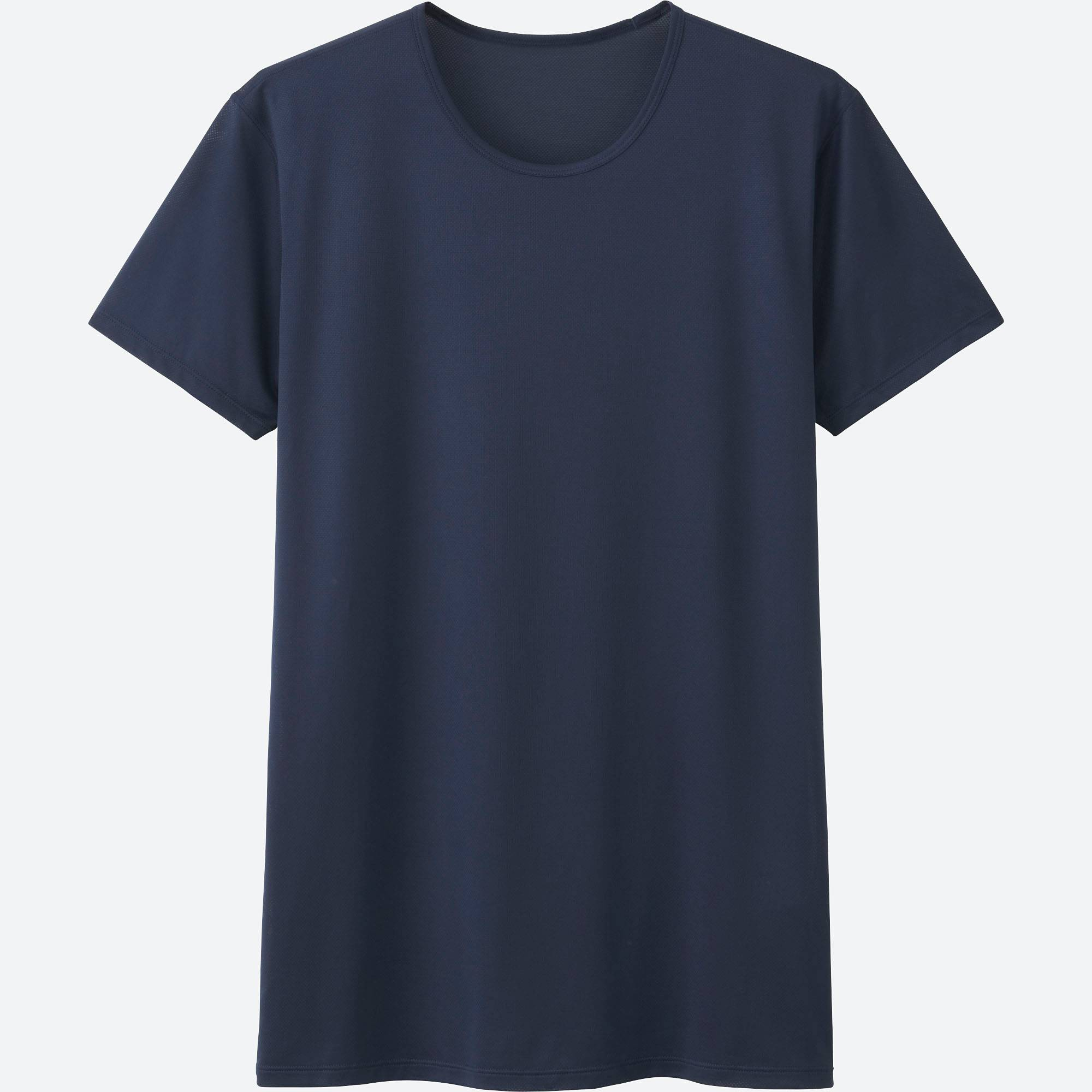 Black t shirt under button down - Men Airism Mesh Crewneck T Shirt Short Sleeve Navy Medium