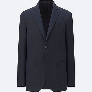 MEN SLIM FIT LINEN COTTON JACKET