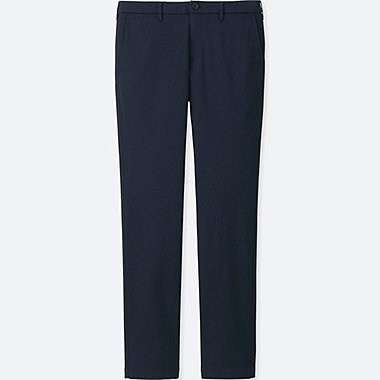 MEN ULTRA STRETCH CHINO FLAT FRONT PANTS, NAVY, medium