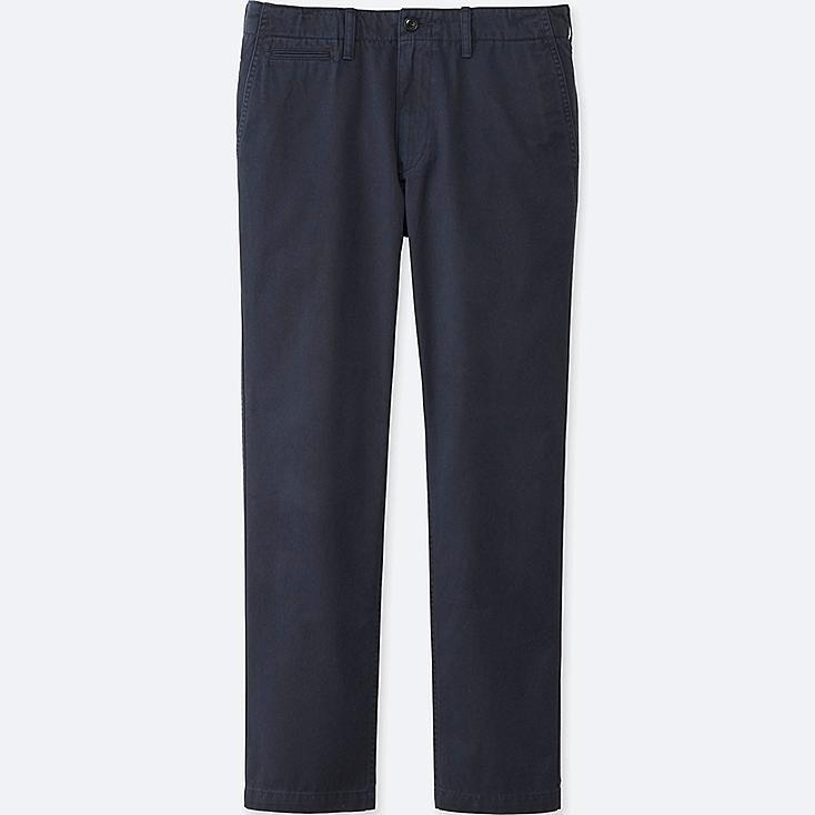 MEN VINTAGE REGULAR FIT CHINO FLAT FRONT PANTS, NAVY, large