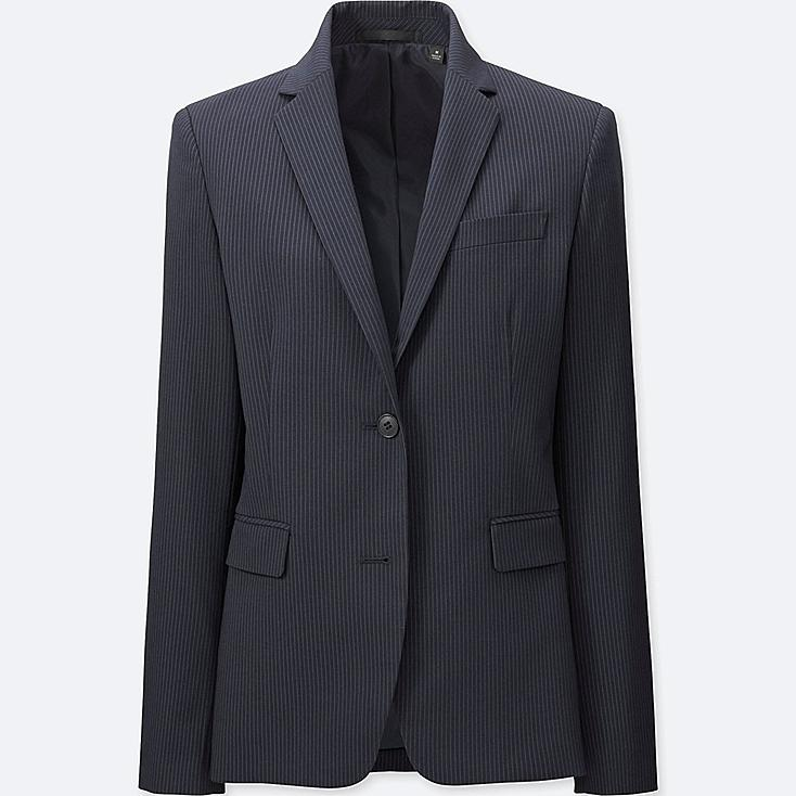 WOMEN STRETCH TAILORED JACKET (ONLINE EXCLUSIVE), NAVY, large