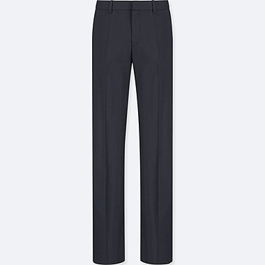 WOMEN STRETCH PANTS, NAVY, medium