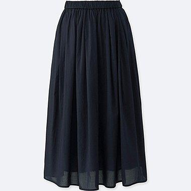 Jupe Taille Haute en Coton FEMME