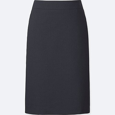 WOMEN STRETCH SKIRT, NAVY, medium