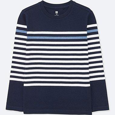 BOYS Striped Crew Neck Long Sleeve T-Shirt