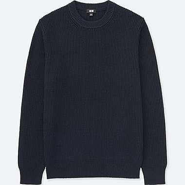 MEN Ribbed Crew Neck Sweater