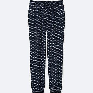 WOMEN Easy Care Drape Pants (Flower Dot)