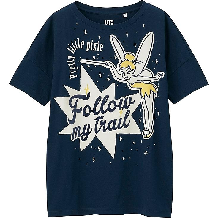 WOMEN DISNEY PROJECT SHORT SLEEVE GRAPHIC T-SHIRT, NAVY, large