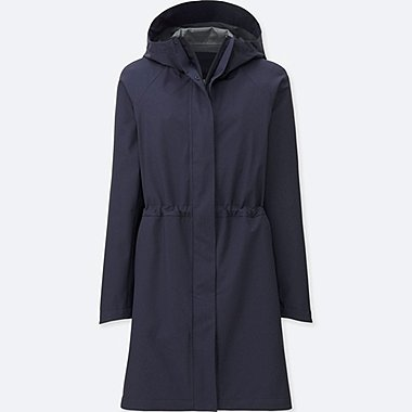 WOMEN BLOCK TECH COAT, NAVY, medium