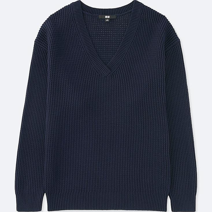 DAMEN Pullover V-Ausschnitt Oversized