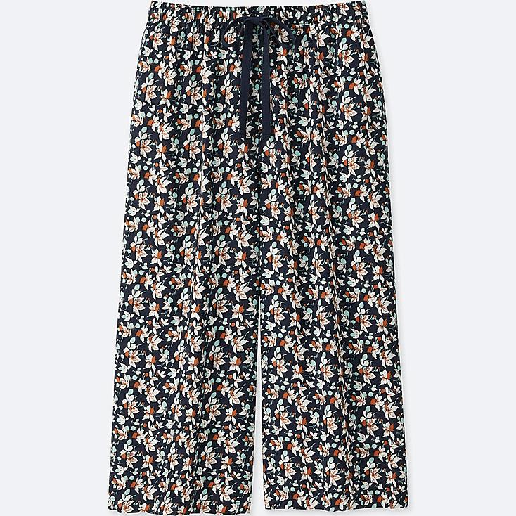 WOMEN (ÉPICE COLLECTION)  RELACO 3/4 SHORTS (WIDE), NAVY, large