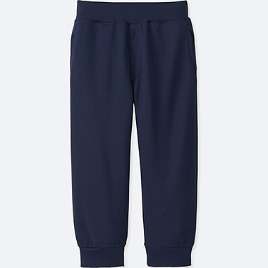 KIDS DRY EX CROPPED PANTS, NAVY, medium