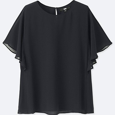 WOMEN Georgette Ruffle Sleeve Blouse