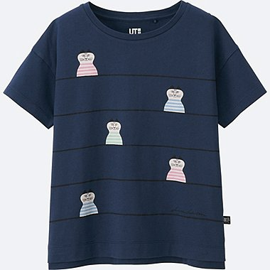 GIRLS LISA LARSON SHORT SLEEVE GRAPHIC T-SHIRT, NAVY, medium