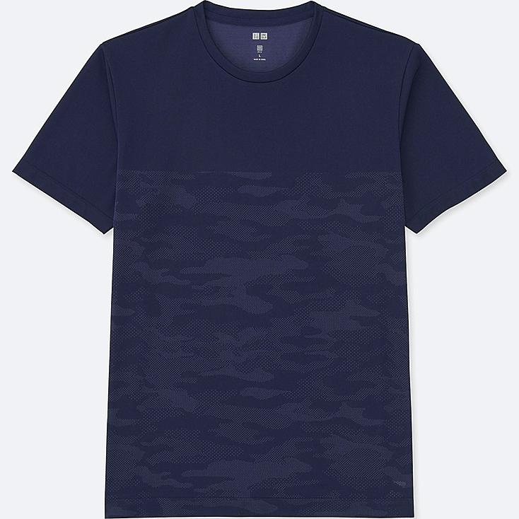 MEN DRY EX SHORT SLEEVE CREWNECK T-SHIRT, NAVY, large