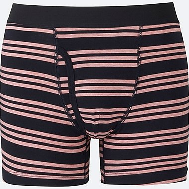 MEN SUPIMA COTTON STRIPED BOXER BRIEFS, NAVY, medium