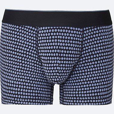 MEN Supima® COTTON BOXER BRIEFS (LOW RISE), NAVY, medium