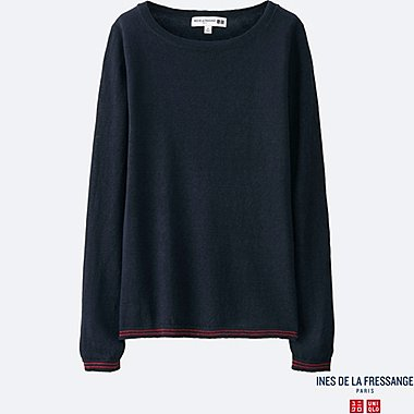 WOMEN INES Premium Linen Boat Neck Sweater