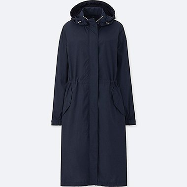WOMEN OVERSIZED LONG PARKA, NAVY, medium