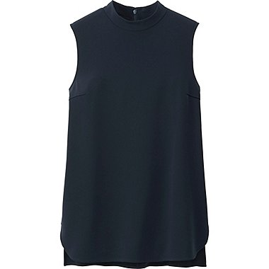 WOMEN High Neck Sleeveless Blouse