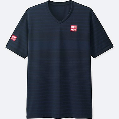 MEN NK DRY-EX SHORT-SLEEVE T-SHIRT, NAVY, medium