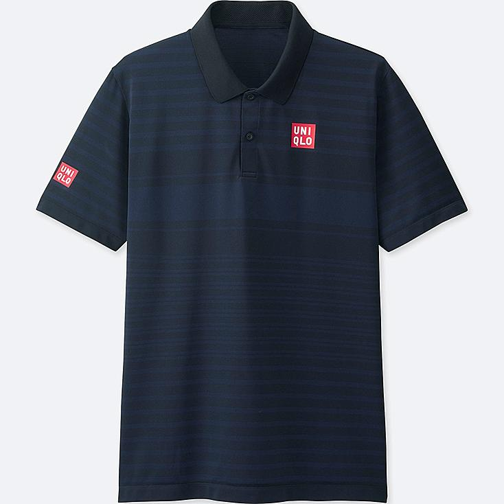 MEN NK DRY-EX SHORT-SLEEVE POLO SHIRT, NAVY, large