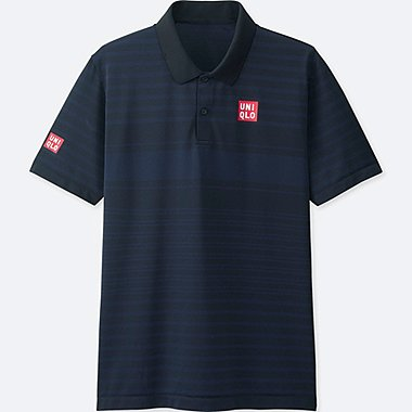 MEN NK DRY-EX SHORT-SLEEVE POLO SHIRT, NAVY, medium
