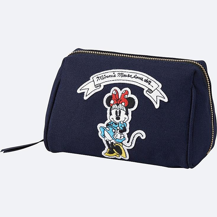 WOMEN Disney (MINNIE MOUSE LOVES DOTS) POUCH, NAVY, large