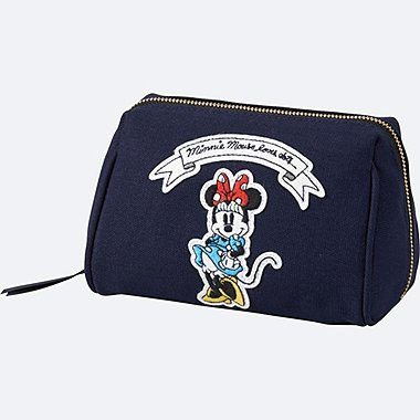 WOMEN Disney (MINNIE MOUSE LOVES DOTS) POUCH, NAVY, medium
