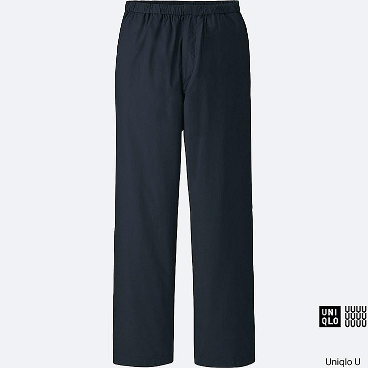 MEN U RELAXED WIDE PANTS, NAVY, large