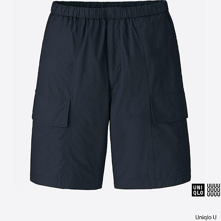 MEN U RELAXED CARGO SHORTS, NAVY, large