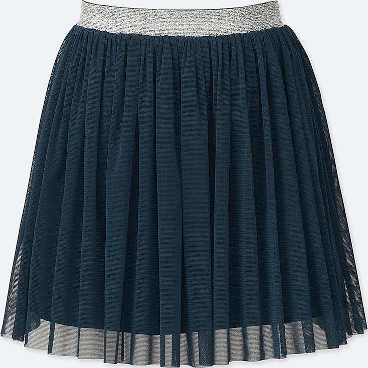 GIRLS TULLE EASY SKIRT, NAVY, large