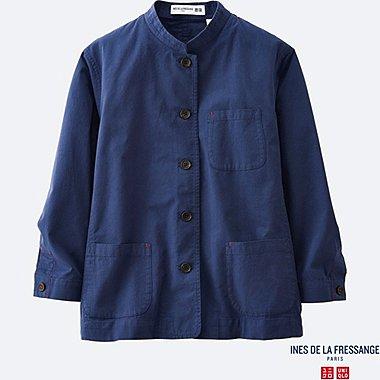 WOMEN INES Dobby Stripe Shirt Jacket