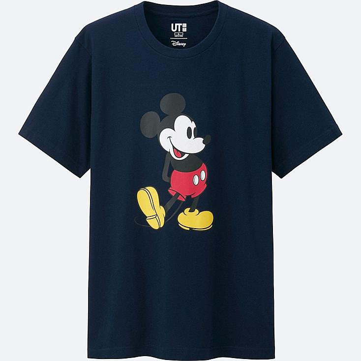 MEN MICKEY STANDS SHORT SLEEVE GRAPHIC T-SHIRT, NAVY, large