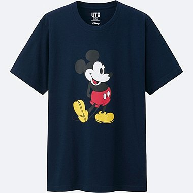 MEN MICKEY STANDS SHORT SLEEVE GRAPHIC T-SHIRT, NAVY, medium