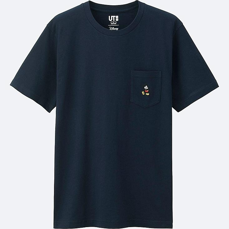 MEN MICKEY STANDS SHORT SLEEVE POCKET T-SHIRT, NAVY, large