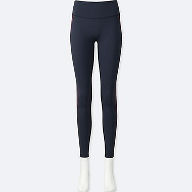WOMEN AIRism LEGGINGS, NAVY, medium
