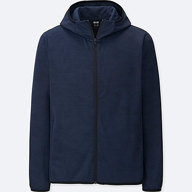 Dry-Ex Long Sleeve Full-Zip Hoodie, NAVY, medium