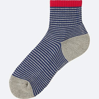 MEN Pile Narrow Striped Half Socks (size 8-11)