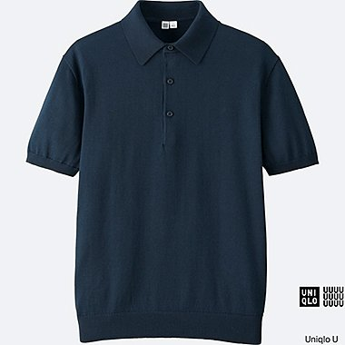 MEN Uniqlo U Supima Cotton Knitted Polo Shirt