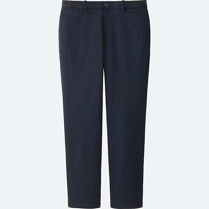 MEN RELAXED ANKLE PANTS (COTTON), NAVY, large